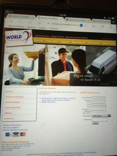 fake courier website